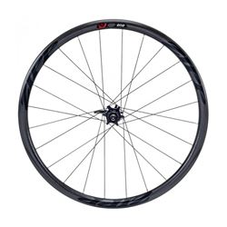 WHEEL ZIPP 202 FRONT CARBON CLINCHER DISC BRAKE V2 700C BLACK