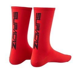SUPACAZ SOCK STRAIGHT UP RED SIZE S/M