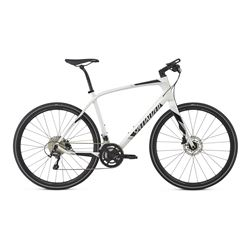 2017 BIKE SIRRUS COMP CARBON GLOSS MET WHITE SILVER/BLACK/LIGHT SILVER REFLECTIVE SIZE S