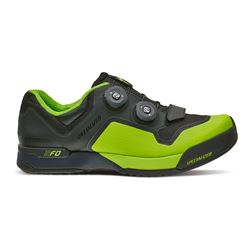 SHOE SPECIALIZED 2FO CLIPLITE MTB BLACK/MONSTER GREEN SIZE 41/8