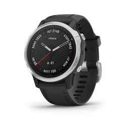 FENIX 6S - SILVER WITH BLACK BAND