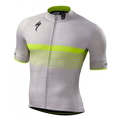 JERSEY SPECIALIZED SL EXPERT SS LTGRY HTHR/NEON YELLOW SIZE XS