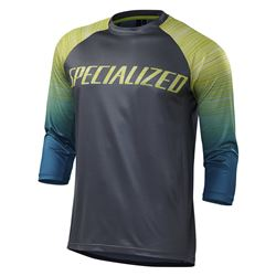 JERSEY ENDURO COMP 3/4 BLACKTEAL FADE SIZE L