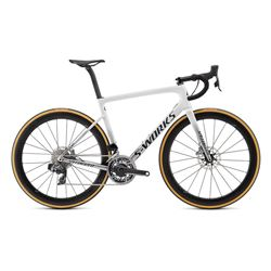2019 BIKE TARMAC SL6 S-WORKS DISC ETAP METALLIC WHITE SILVER/LIGHTSILVER SIZE 49
